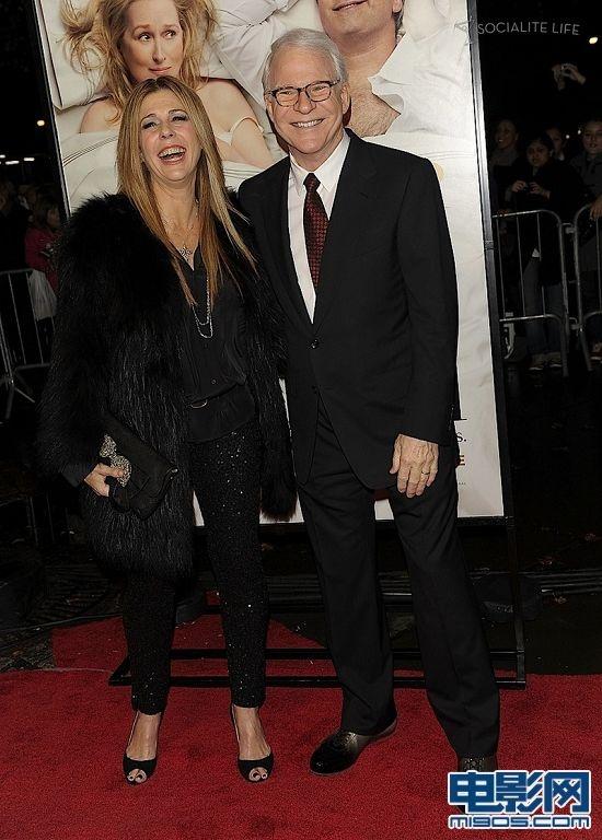 汤姆·汉克斯妻子丽塔·威尔逊与史蒂夫·马丁