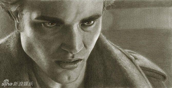 阿特伍德手绘铅笔肖像 波特曼典雅福克斯性感_明星