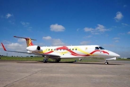 成龙私人飞机-成龙掷3000万购私人客机 机尾印龙字豪气十足