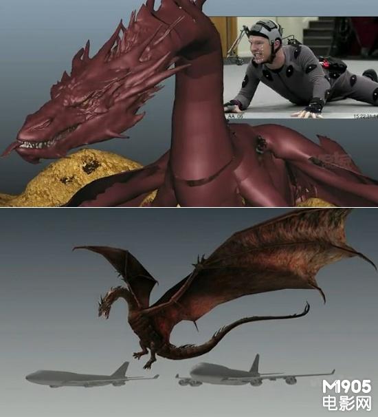 地看到史矛革有四条腿和一双从背脊伸展出的翅膀;而在《霍比特人2》中