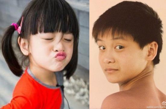 森碟见田亮少年青涩照直呼:这弟弟可真黑啊!图片