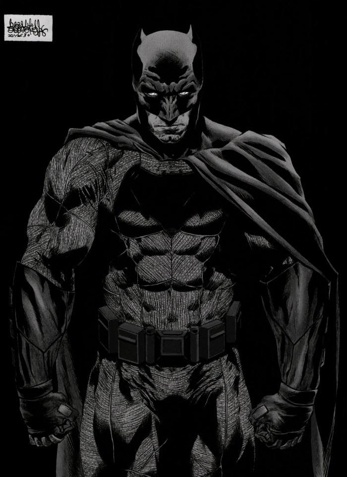 《蝙蝠侠大战超人》曝手绘插画