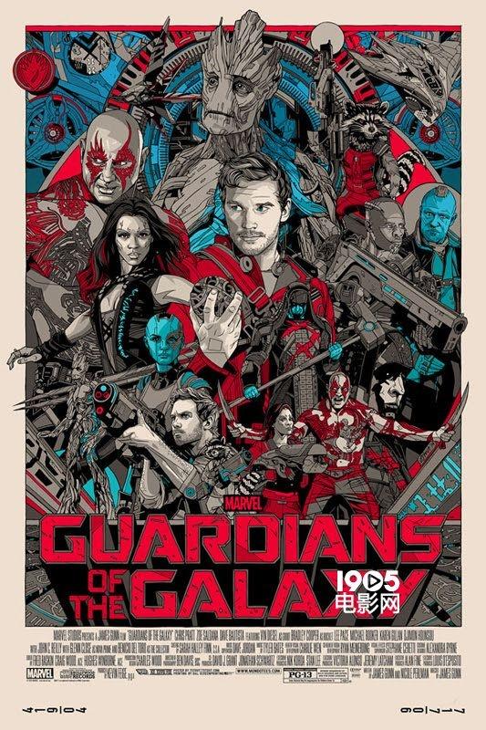 《银河护卫队》发布手绘海报 风格复古色彩鲜艳
