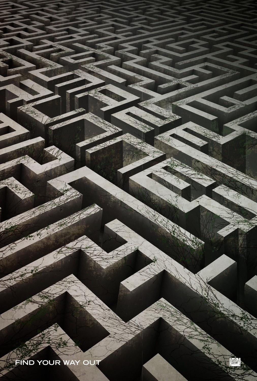 橡皮章素材爱心迷宫