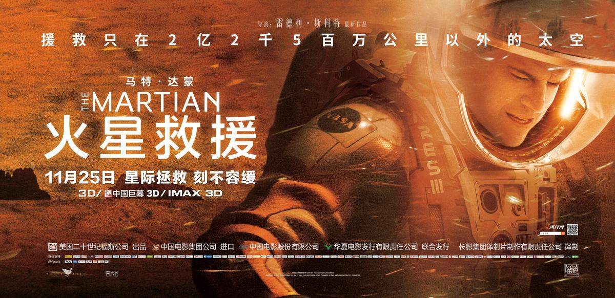 2015高分科幻冒险《火星救援》加长版.BD1080P.国英双语.高清中英双字