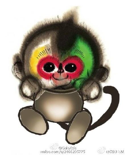 猴子造型矢量图