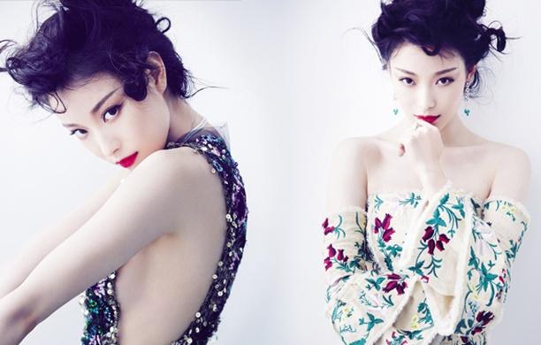 倪妮性感造型登杂志封面 红唇雪肌显美艳风情