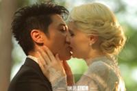 撒贝宁婚礼示爱新娘李白