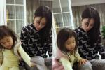 李小璐和甜馨一起泡脚 自称是接地气的普通母女