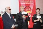 11月14日晚,2016罗马尼亚电影节在京开幕,中影海外推广有限公司负责人谷国庆、罗马尼亚驻华文化参赞鲁贝安、罗马尼亚国家电影中心主任安卡•米特兰、副首相顾问西蒙娜•塔娜塞斯库及罗马尼亚电影代表团成员出席了开幕式。