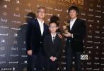 北京时间11月26日,第53届台湾电影金马奖红毯,红毯上星光熠熠,巨星云集。图为:最佳剧情片:《八月》。