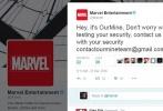 """斗得过奥创却斗不过""""黑客""""?近日,漫威娱乐(@Marvel Entertainment)和多位""""漫威超级英雄""""的推特账号被安全团体OurMine攻陷,并留言称""""此举仅为安全测试,请与我们联系以提高账户安全系数。"""""""