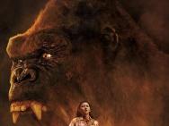 《金刚:骷髅岛》曝新版预告海报 景甜持枪惊呼