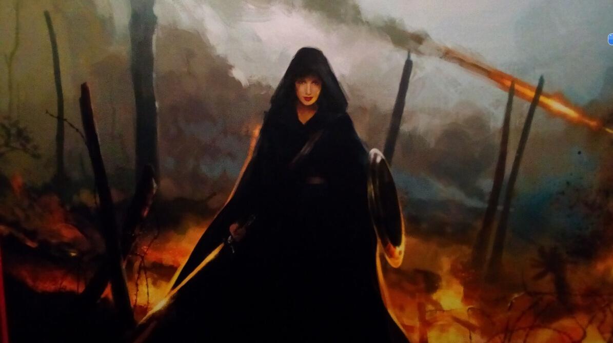 《神奇女侠》概念图 戴安娜公主披斗篷穿行火海