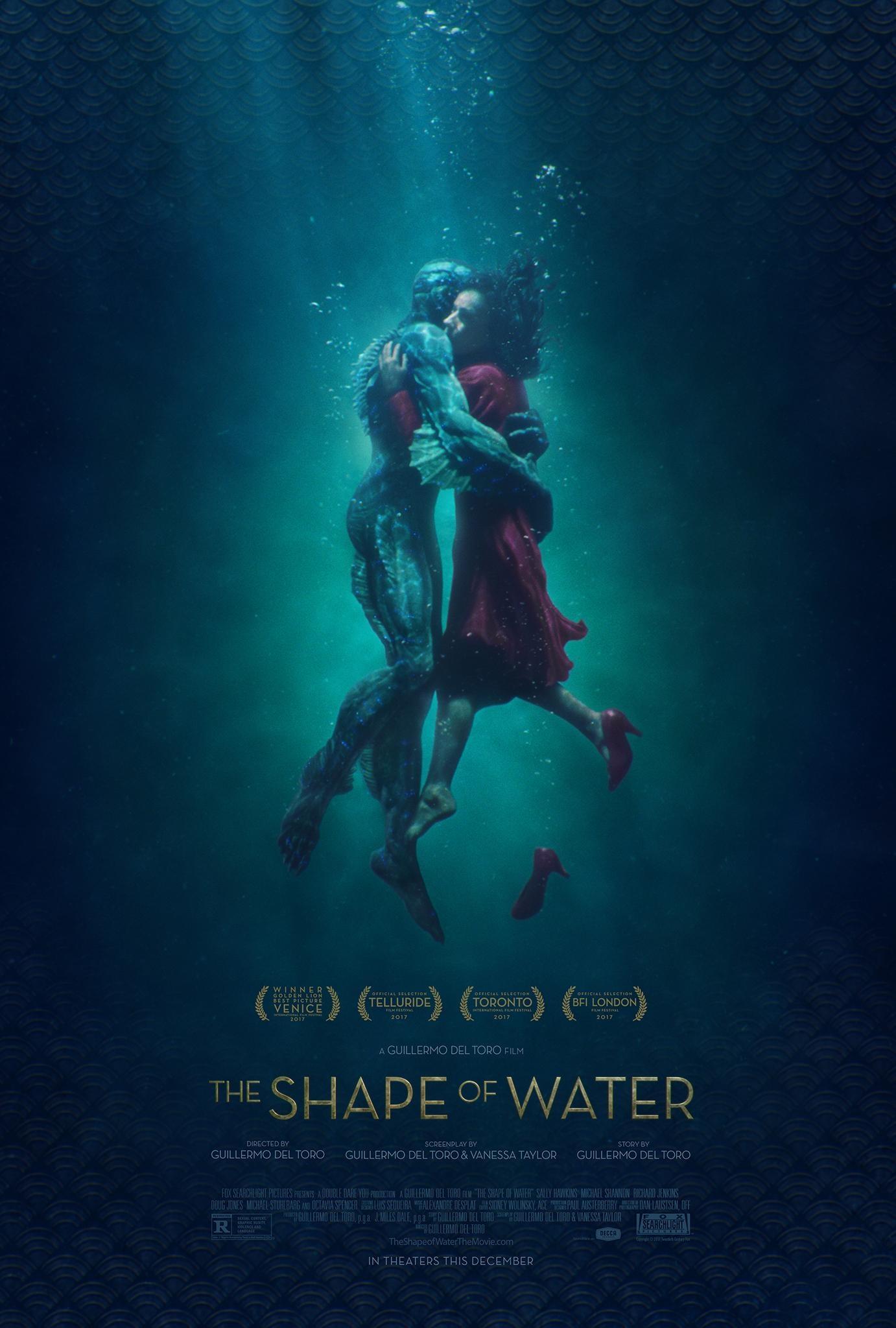 《水形物语》曝光全新海报 人与兽水中相拥相恋_好莱坞