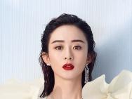 赵丽颖深V大花裙美艳逼人 性感大露背秀烈焰红唇