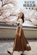 倪妮再登《时尚芭莎》 叼花漫步京都街头明媚动人