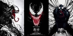 《毒液》曝三款艺术海报 风格化还原毒液炫酷形象