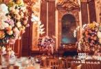 11月2日,唐嫣、罗晋婚礼晚宴现场布置高清图曝光。