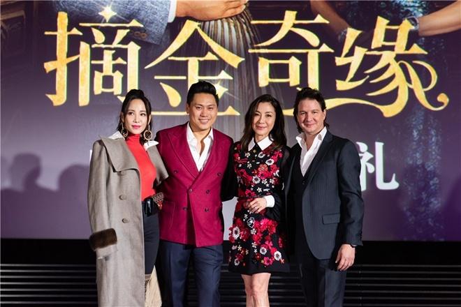 影片主演杨紫琼,导演朱浩伟及制片人约翰·派诺迪齐齐亮相,他们