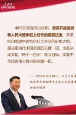 10个金句速览习近平庆祝改革开放40周年讲话要点