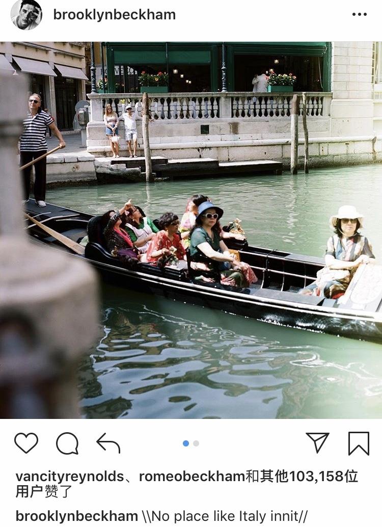 贝克汉姆长子游意大利偷摄亚洲游客 被指种族歧视