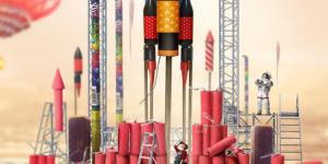 《流浪地球》發布想象力海報 吳京屈楚蕭發射火箭