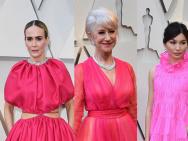 """奥斯卡红毯女星""""解锁""""少女心 粉红色礼服成趋势"""