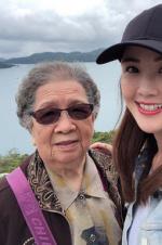 阿Sa带92岁奶奶现身日月潭 祖孙自拍合照超可爱