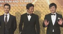 黄晓明、邓超、沈腾携手亮相红毯 沈叔叔打招呼的样子太萌了