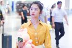 """""""女版刘昊然""""何蓝逗穿黄色上衣 少女感十足!"""