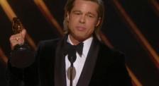 布拉德·皮特45秒奥斯卡获奖感言:这份荣誉属于昆汀·塔伦蒂诺