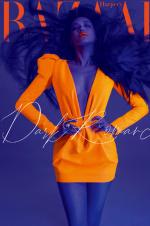 邪魅狂狷!舒淇登封时尚杂志 荧光橙造型大胆前卫