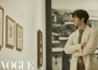 蔡徐坤时尚大片释出 白西装温和儒雅尽显复古范