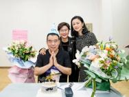 李少红合影陈凯歌为其庆生:永远富有创作激情