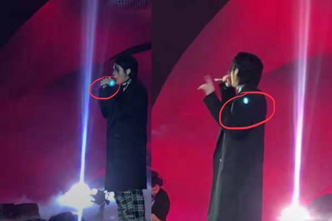 吴亦凡舞台表演《大碗宽面》被观众拿激光笔照射