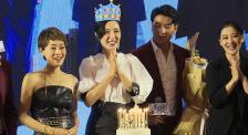 《在远方》在京举办发布会 刘烨、马伊琍、梅婷为曾黎庆生