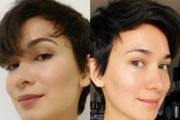 卢靖姗分享化妆前后对比自拍照 结束14天居家隔离