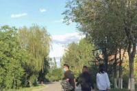 郑恺夫妇牵手逛公园被偶遇 苗苗腰身粗壮疑有孕