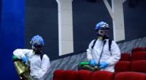 蓝天救援队为湖南地区影院消杀 为观众保驾护航!