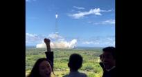 天问一号探测器发射升空 杜江、霍思燕激动表白:一生难忘!