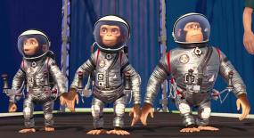 三只猩猩被送上太空,竟意外拯救一个星球,一部搞笑动画电影