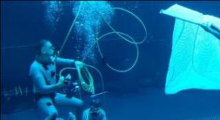 《阿凡达2》发布新片场照 温丝莱特展现水下特技
